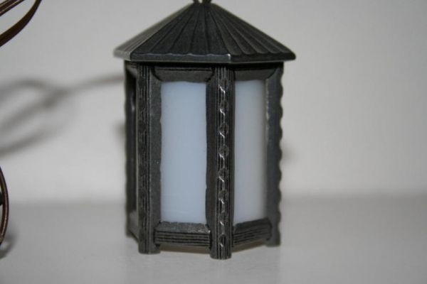 wurzelkrippe krippenhobby onlineshop kb 012 zinnlaterne sechseckig einsatz weiss oder rot. Black Bedroom Furniture Sets. Home Design Ideas
